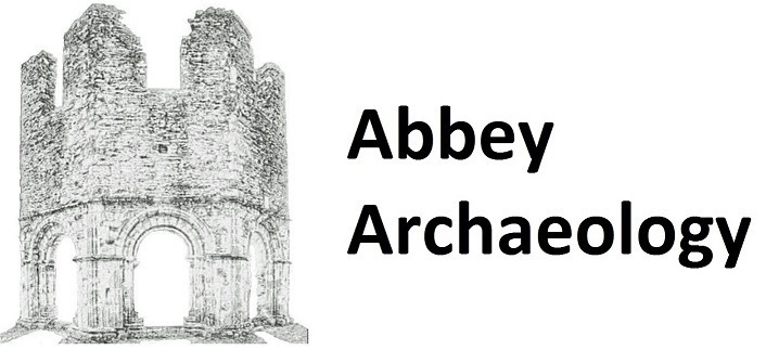 Abbey Archaeology Logo. Artwork by Rachel Walker